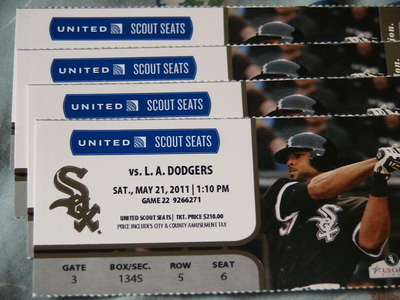 5/21 Sox Tickets