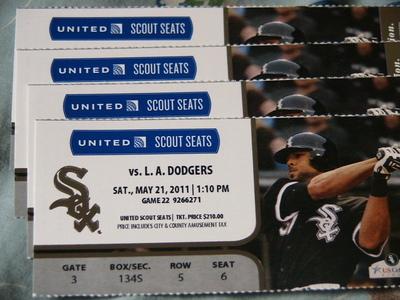 5/21 Sox Tickets
